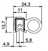 SEALING SECTION 1/2/3/4/5 mm Si ,10 mm bulb on side (100 m)